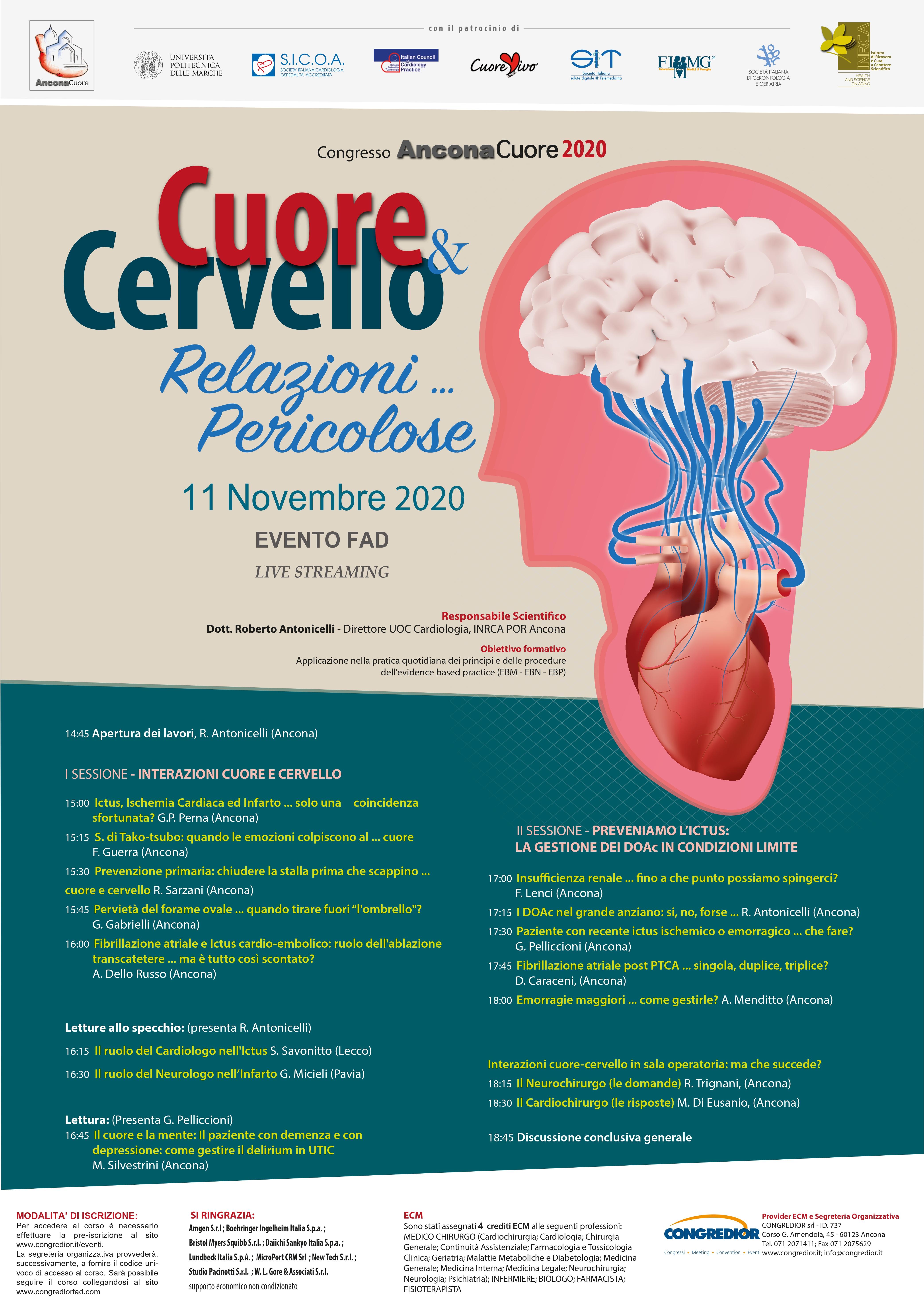 Course Image ANCONA CUORE 2020. CUORE E CERVELLO: relazioni pericolose