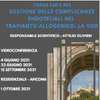 Course Image GESTIONE DELLE COMPLICANZE ENDOTELIALI NEL TRAPIANTO ALLOGENICO: LA VOD